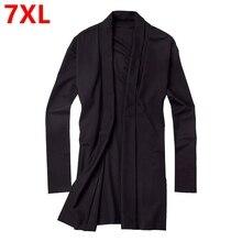 Большой размер мужской s XL чистый жир тонкий ветровка с длинными рукавами вязаный кардиган воротник Мужская куртка Открытый стежок хлопок Повседневный Тренч