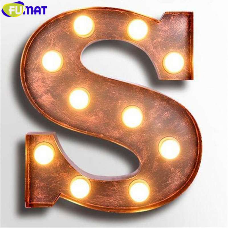 FUMAT Metal Alphabet Lamps Letters S Wall Lamps for Living
