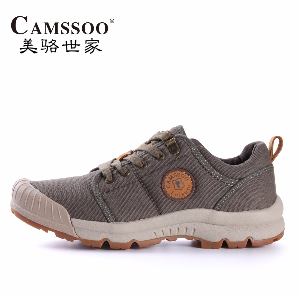 High Quality Mens Sports Canvas Outdoor Hiking Shoes Sneakers For Men Sport Wearable Climbing Mountain Trekking Shoes Man yin qi shi man winter outdoor shoes hiking camping trip high top hiking boots cow leather durable female plush warm outdoor boot