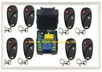 NEW RF Wireless 220V Remote Control Switch teleswitch 1CH Interruptor 10A 1 Receiver& 8Transmitter Light Lamp LED SMD A ON B OFF