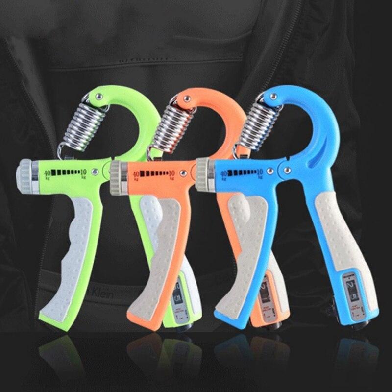 Poignée réglable renforceur doigt Gym Muscle Fitness entraînement à la main exercice poignet pince extenseurs avec compteur 10-40 KG