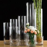 European style transparent Clear Tabletop tall Glass Vase Bottle Terrarium Hydroponic Container Pot Flower Home Wedding Decor