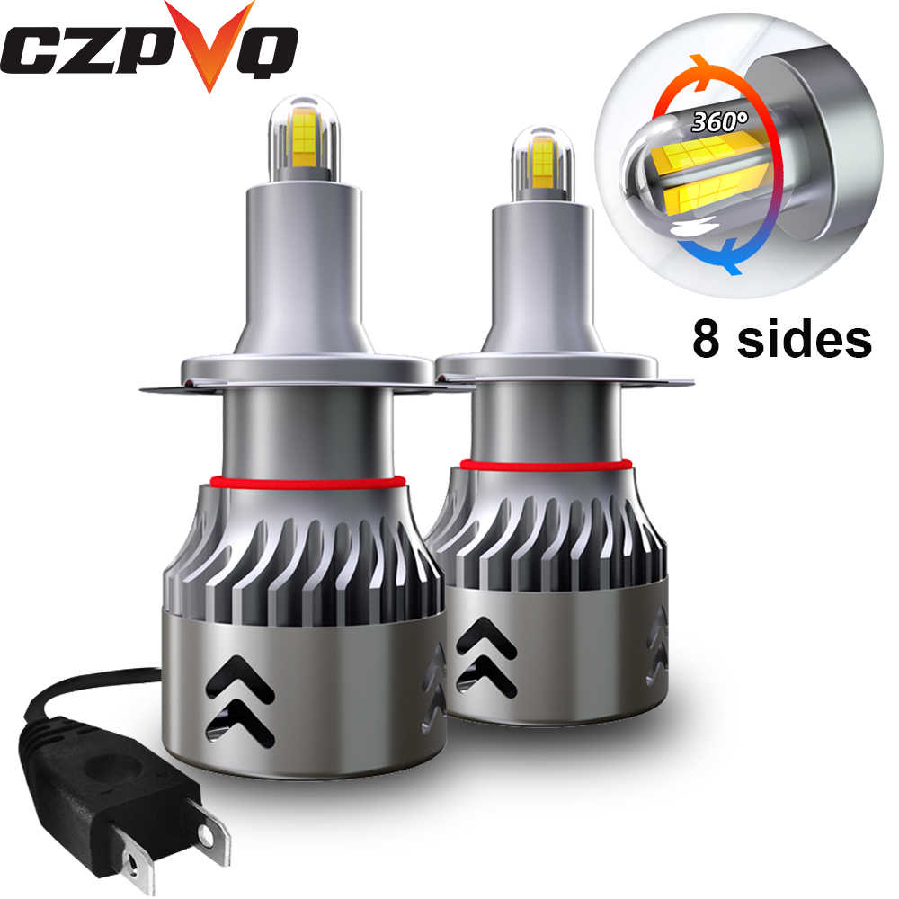 CZPVQ 8 Sides Csp 14000LM H7 H11 LED  Mini lampada Car Headlamp H1 H3 H8 H9 9005 HB3 9006 HB4 Car LED light Fog lamp 6000K 12V
