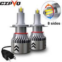 CZPVQ 8 Lati Csp 14000LM H7 H11 HA CONDOTTO il Mini lampada Auto Del Faro H1 H3 H8 H9 9005 HB3 9006 HB4 auto HA CONDOTTO LA lampada della luce di Nebbia 6000K 12V