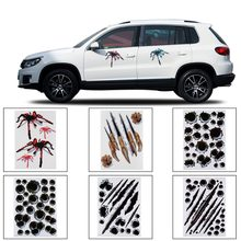 3D Car Stickers Spider Styling Bullet Hole Pattern Motorcycle Car Accessories Stereo Auto Sticker Car Stickers(China)