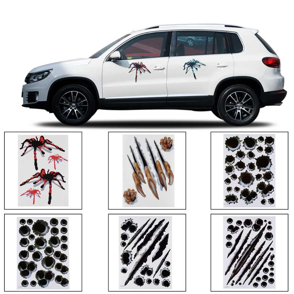 3d car stickers spider styling bullet hole pattern motorcycle car accessories stereo auto sticker car stickers