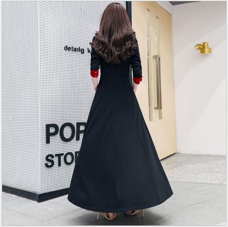 Haute À Femmes Taille Chaude Big Seule Pull D'une D'hiver Black xxl Automne Section Et Swing Longue Manches M Pièce Robe 2018 Longues De xqXYwTTE