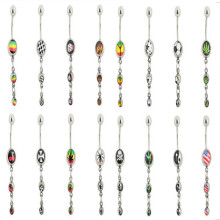 48Pcs/lot 316L Stainless Steel Belly Button Rings Piercings Ball Dangle Navel Bar Ring Body Piercing Jewelry Lot