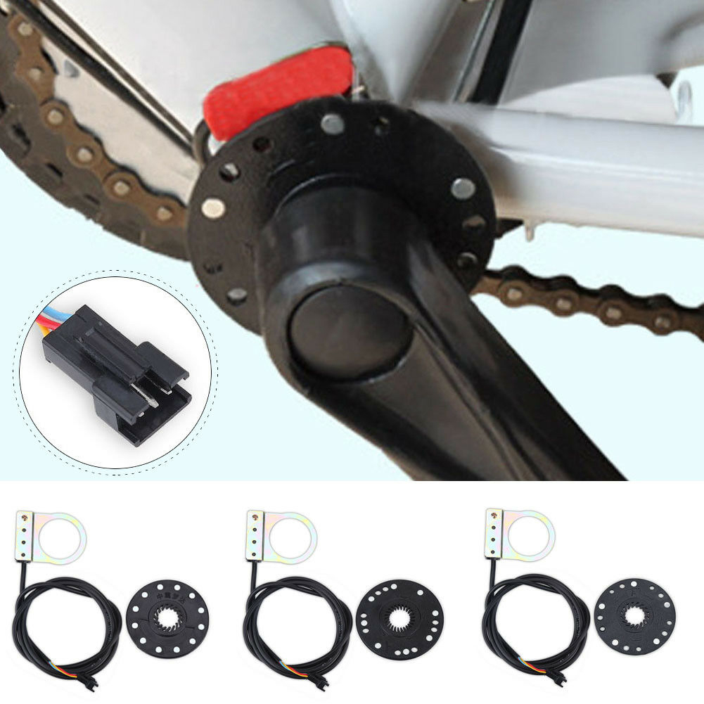 Electric Bicycle Pedal 5/8/12 Magnets E-bike PAS System Assistant Sensor Speed Sensor Black Color Easy To Install