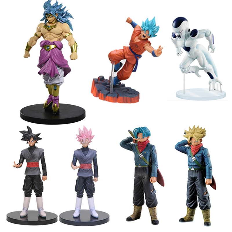 Hot Style Action Figure Anime Dragon Ball Super Saiyan Dieu Goku Freezer Torankusu Broli Noir PVC Collection Modèle Enfants Jouet poupée