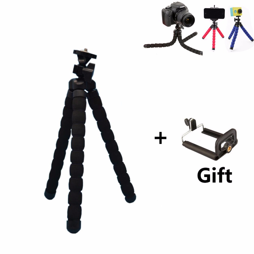 Kiváló minőségű hordozható Octopus állvány telefon tartó adapterrel Mount Mini rugalmas állvány GoPro fényképezőgéphez Telefon xiaoyi DSLR
