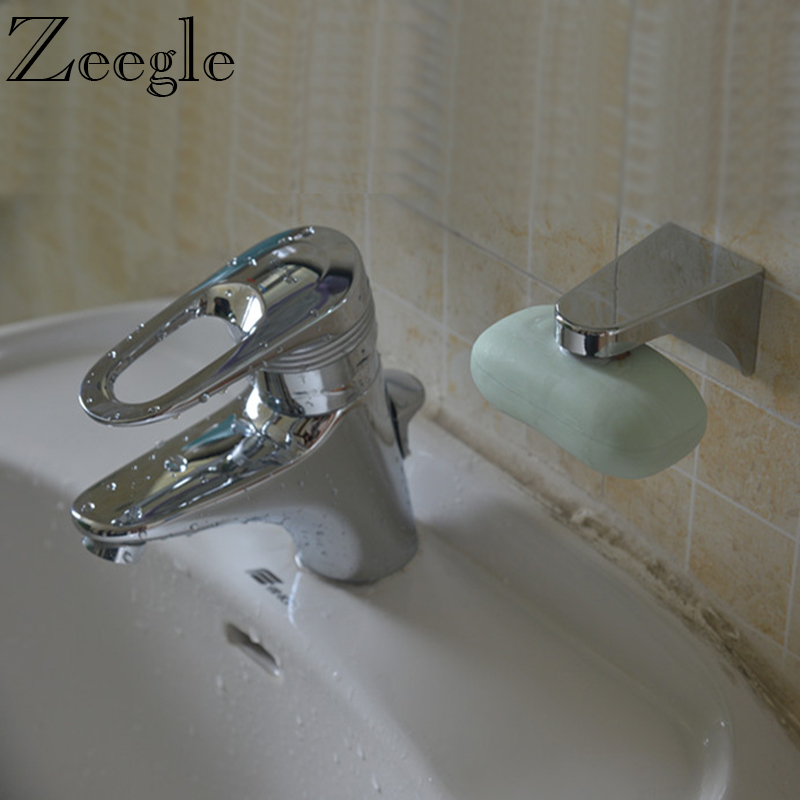 Zeegle Household Magnetic Soap Holder Shower Soap Container Dispenser Wall Attachment Adhesion Bathroom Soap Storage Accessories