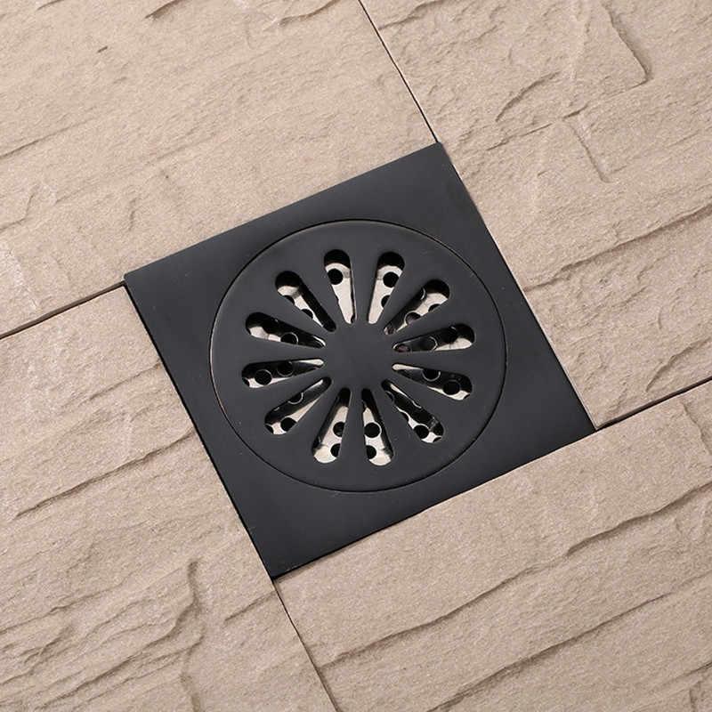 Новое поступление латунный матовый черный квадратный стиль сушитель пола отходов Слив в ванной