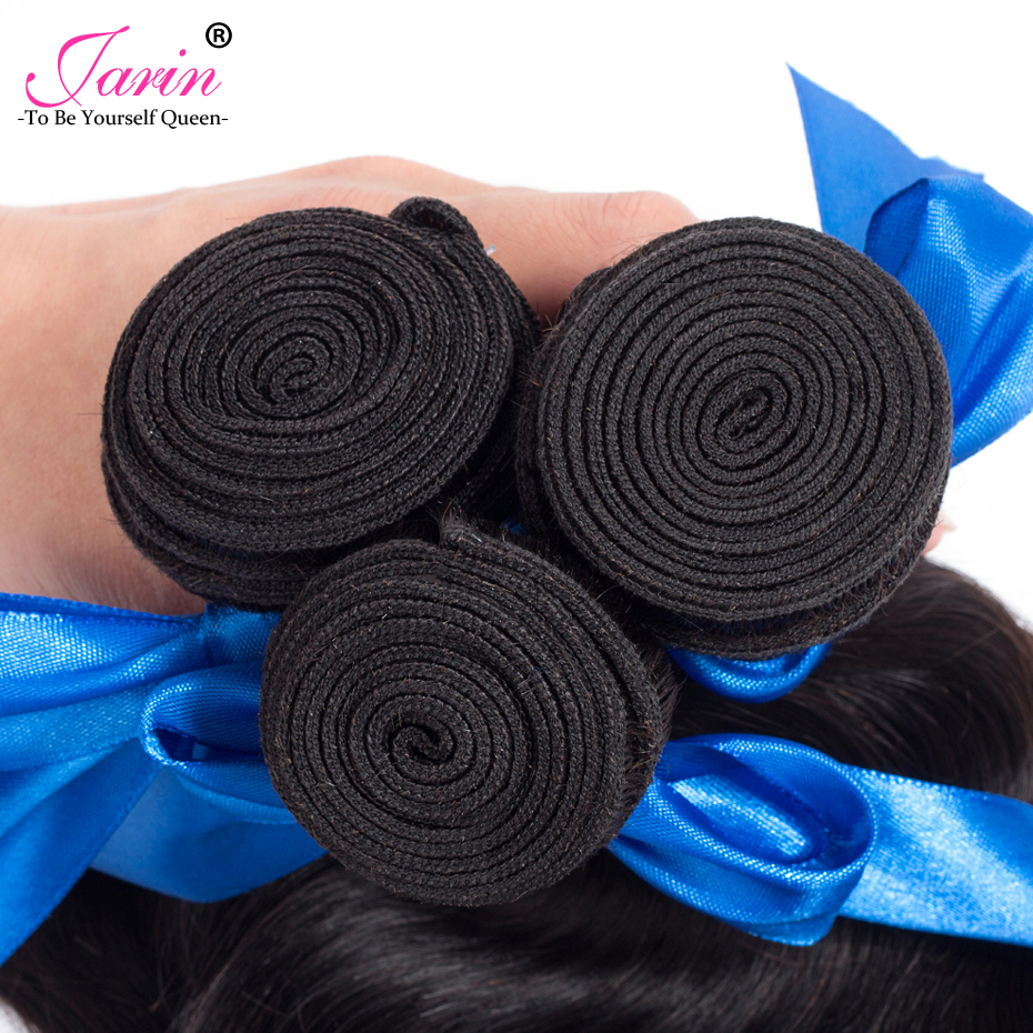 JARIN Human Hair 4 Bundles Brazilian Body Wave 8-28 Brazilian Hair Extension Body Wave Weave Natural Black Non Remy 100g/pc