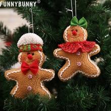 FUNNYBUNNY Gingerbread Man Dolls Pendant Christmas Tree Hanging Ornament decoration