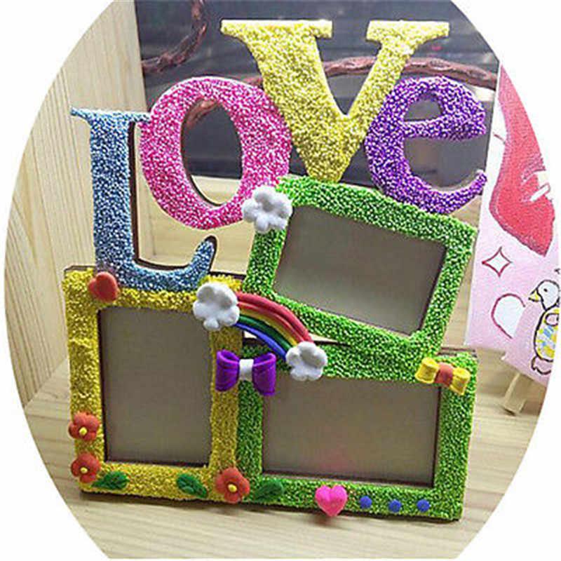مستطيل إطار صور خشبية مع الأسرة رسالة الحب الإنجليزية رسالة معلقة DIY بها بنفسك إطار الصورة الفن الحرفية ديكور المنزل