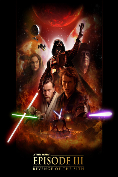 Free Shipping Sw Movie Posters Film Episode Revenge Of The Sith Custom Canvas Wallpapers Star Wars