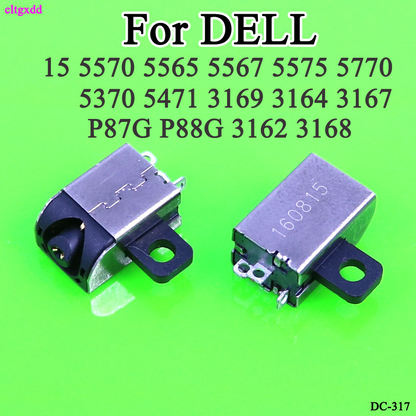 Cltgxdd DC Power Jack For DELL Inspiron 15 5565 5567 5370 5471 P87G P88G 3162 3168 3169 3164 3167 DC Connector Laptop Socket
