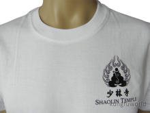 Shaolin Temple White Color Cotton T-Shirt