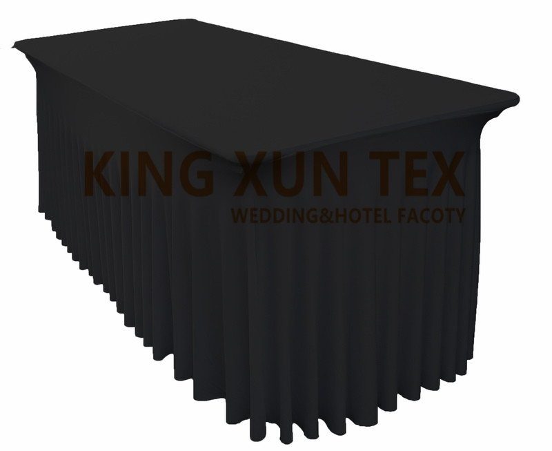 Rectangle Fitted Stretch Spandex Table Cover Tablecloth Lycra Long Bar Table Cloth For Hotel Event Party