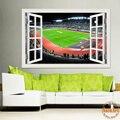 3d Window Decal Wall Stickers Football Ball Soccer Playground Landscape Scenery Vinyl Wallpaper Mural Art