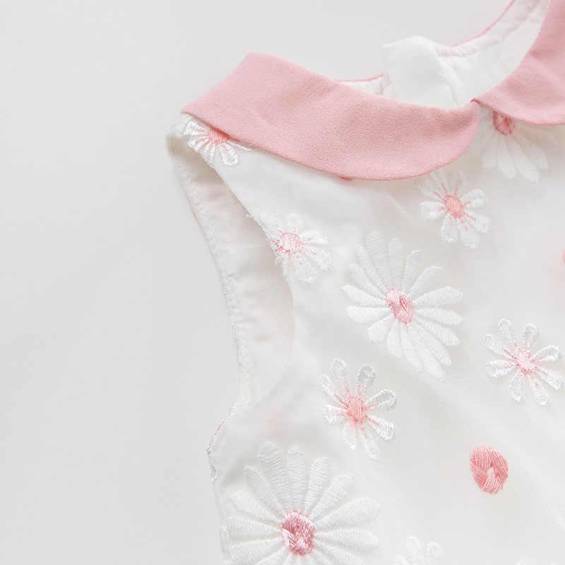 DB10505 dave bella/летнее платье принцессы с цветочным рисунком для маленьких девочек, детское праздничное свадебное платье, детская одежда с цветочным рисунком для малышей