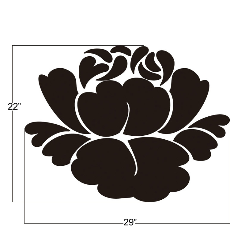 Lotus flower wall decals buddhism vinyl wall decals stencil mural lotus flower wall decals buddhism vinyl wall decals stencil mural girl room decor bedroom stickers graphics mural 22h x 29w in wall stickers from home mightylinksfo