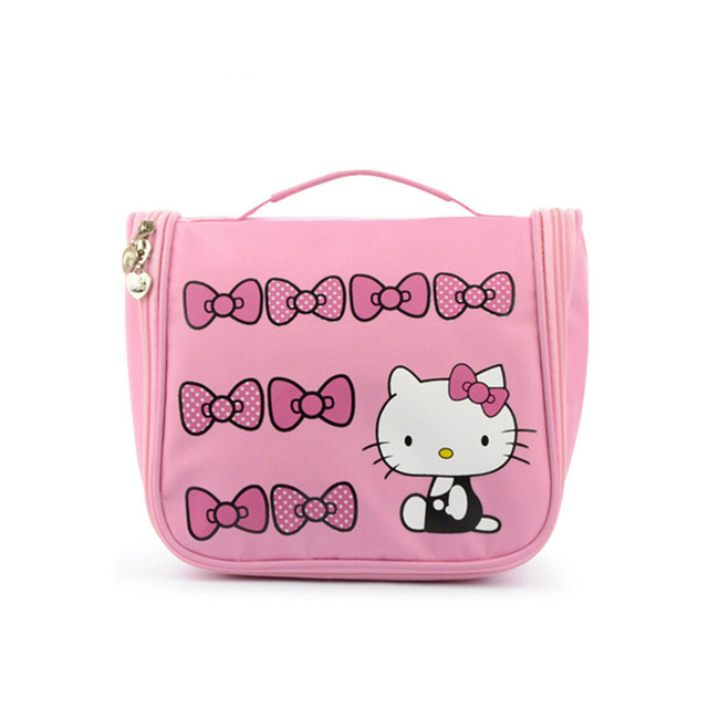 9cc867c95761 Hello Kitty Hanging Cosmetic Toiletry Bag Travel Organizer Beautician  Necessary Functional Makeup Pouch Case Accessories Supply