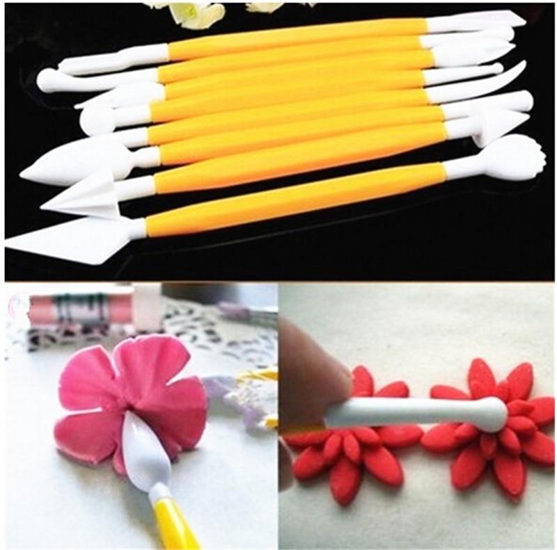 8pcs/set 16 Styles Pastry Carving Cutter Sugar Craft Flower Sculpture Group Fondant Cake Decorating Tool DIY Baking Tools