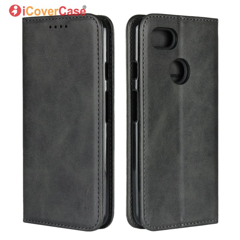 new styles 1061d a8ad9 US $9.74 25% OFF|Magnetic Case For Google Pixel 3 Leather Cover Wallet Flip  Soft Back Cover Case For Google Pixel 3 Phone Bag Accessory Coque-in ...