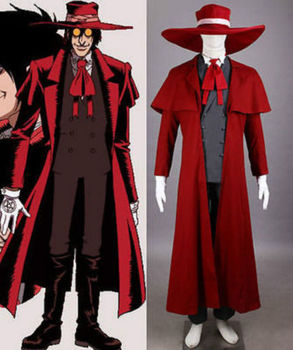 Anime! Hellsing Alucard Ultimate Vampire Hunter Uniform Cosplay Costume Halloween Outfit For Unisex Custom-made Free Shipping