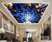 beibehang Abstract fashion personality classic 3d wallpaper three-dimensional blue color colorful spiral pattern zenith murals