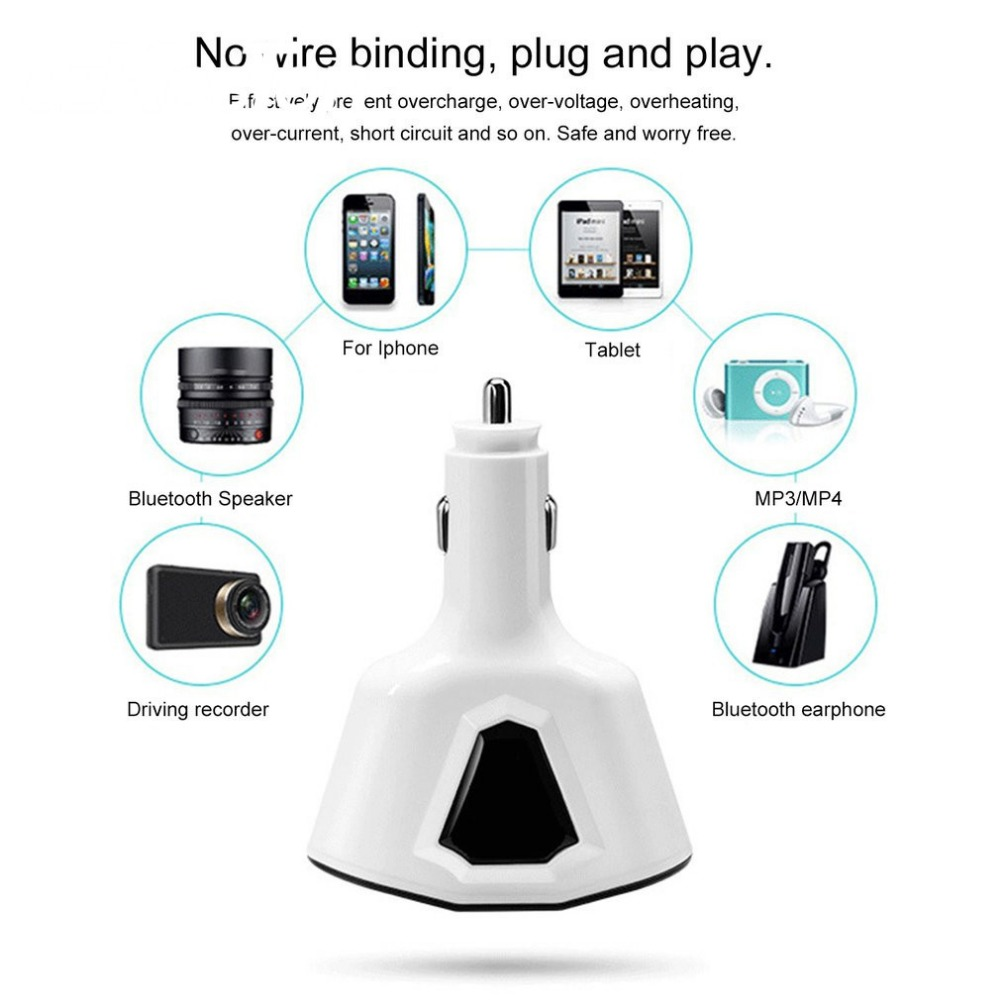 3.1a Выход USB автомобиль Зарядное устройство со светодиодной Экран Smart Auto автомобильный адаптер для зарядки iPhone X Samsung Xiaomi автомобильное держа…
