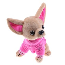 1Pcs 17Cm Chihuahua Puppy Kids Toy Kawaii Simulation Animal Doll Birthday Gift For Girls Children Cute Stuffed Dog Plush Toy 35cm luminous dog plush doll colorful led light glowing dogs kids toy children girls gift kawaii stuffed animal toy