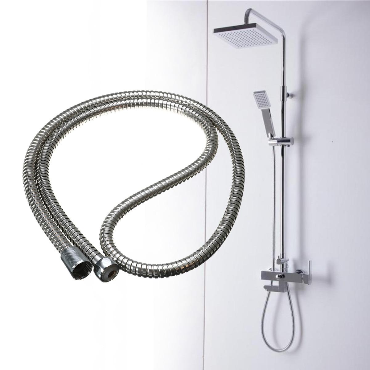 1.5m Stainless Steel Flexible Shower Hose Extension Chrome Plumbing ...