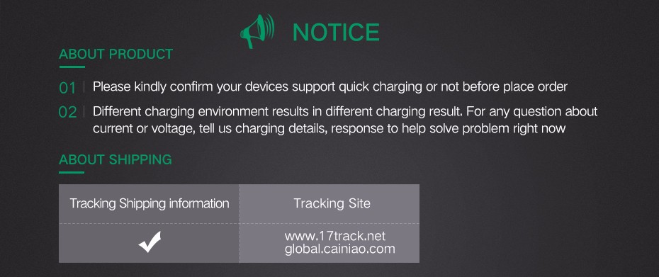 Quick Charger-Notice