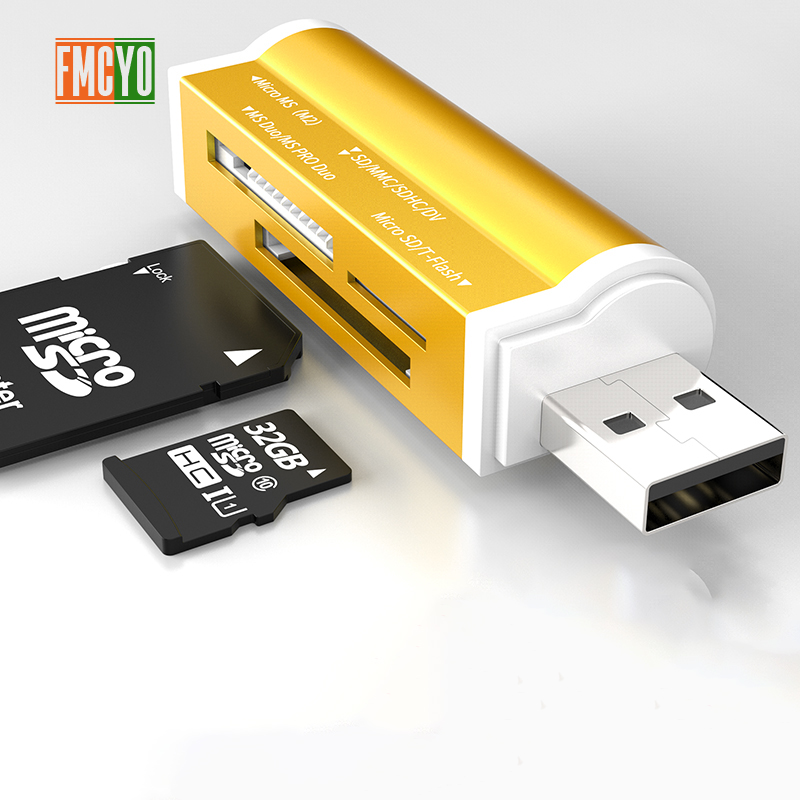 Image 4 - Multi in 1 Memory SD Card Reader for Memory Stick Pro Duo Micro SD,TF,M2,MMC,SDHC MS card reader A variety of colors-in Card Readers from Computer & Office