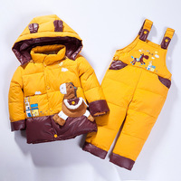 BibiCola baby boys clothing set thicken down jacket boy romper down jacket clothing set kids down parkas children girl clothing