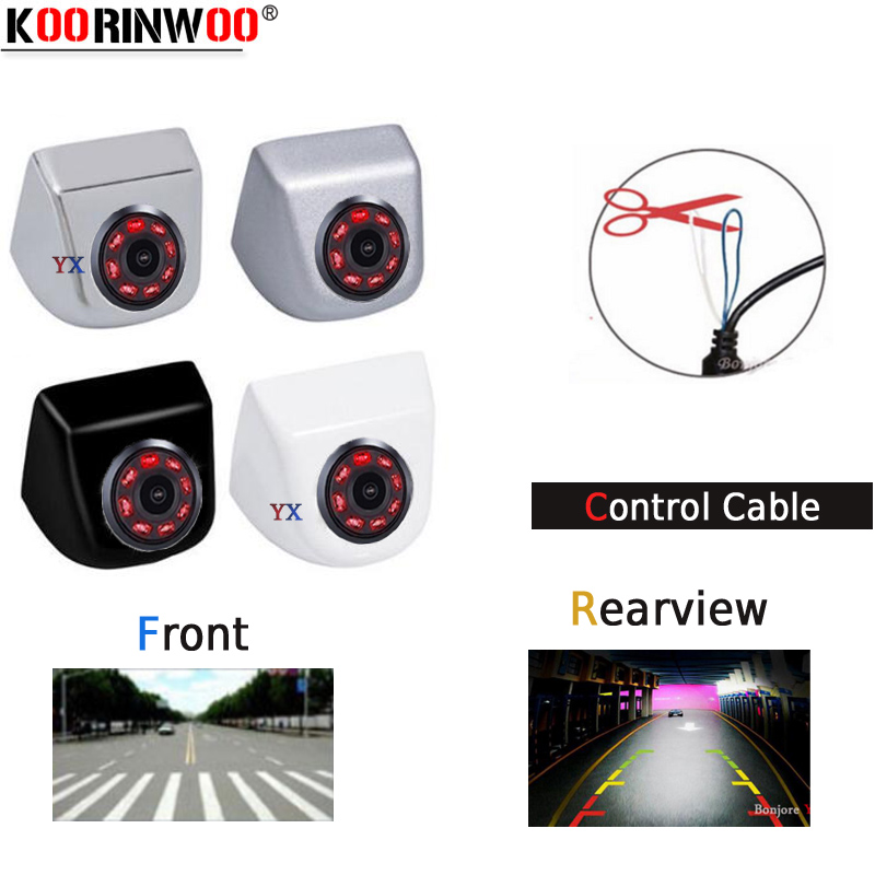 Koorinwoo CCD HD Switching 8 Infrared Lights Car Rear View Camera / Front Form Camera / Side Cam Back Up Parking Assist Video