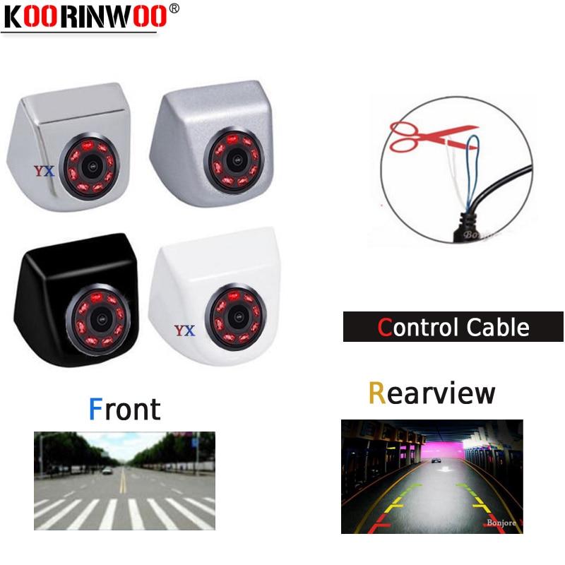 Камера заднего вида Koorinwoo CCD HD, 8 инфракрасных ламп, фронтальная камера, боковая камера, парковочная помощь, видео