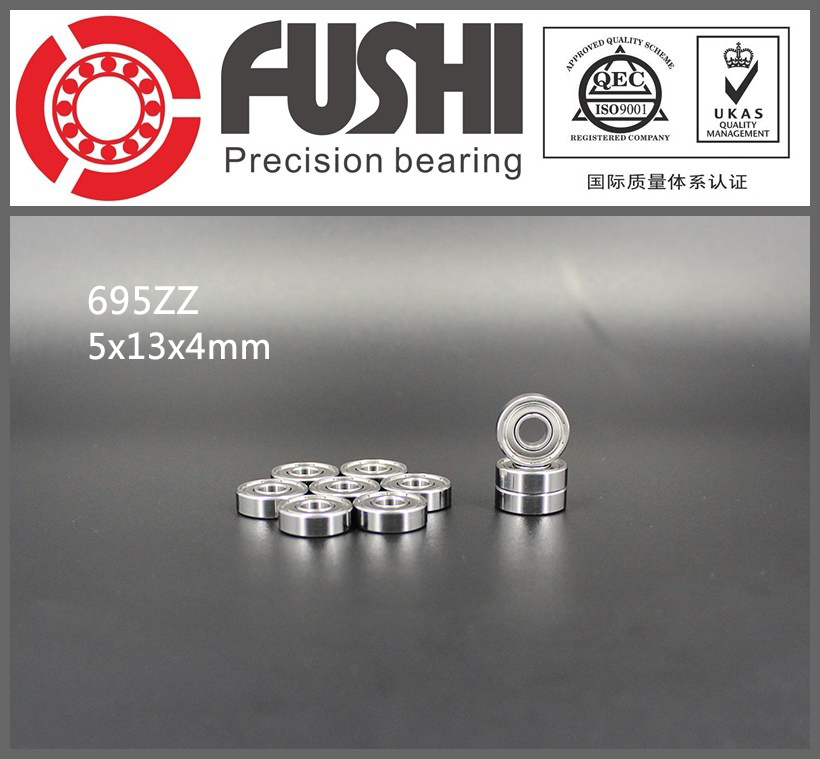 695ZZ Bearing ABEC-5 10PCS 5x13x4 MM Miniature 695Z Ball Bearings 619/5ZZ EMQ 695 Z3 V3 Quality 685zz bearing abec 5 10pcs 5x11x5 mm miniature 685 zz ball bearings 618 5zz emq z3v3 quality