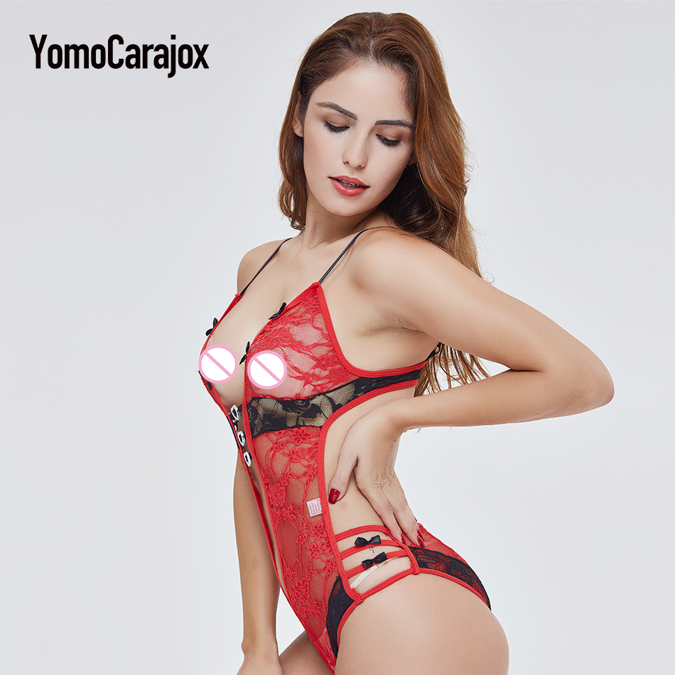 Fashion Hot Sale Sex Product Sexy Costumes Women Underwear Lady Sexy Lingerie Transparent Conjoined Dress Suit Leotard Intimates 11
