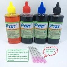 YOTAT 4*100ml Refill Dye Ink Kits for HP564 HP364 HP178 HP862 HP920 HP685 HP655 HP670 HP940 HP88 HP934 HP950 HP932 HP711 HP970