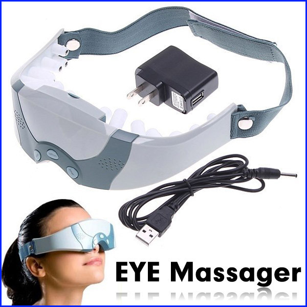 Mask Migraine DC Electric Care Forehead Eye Massager Magnetic  Acupuncture Eye Massage