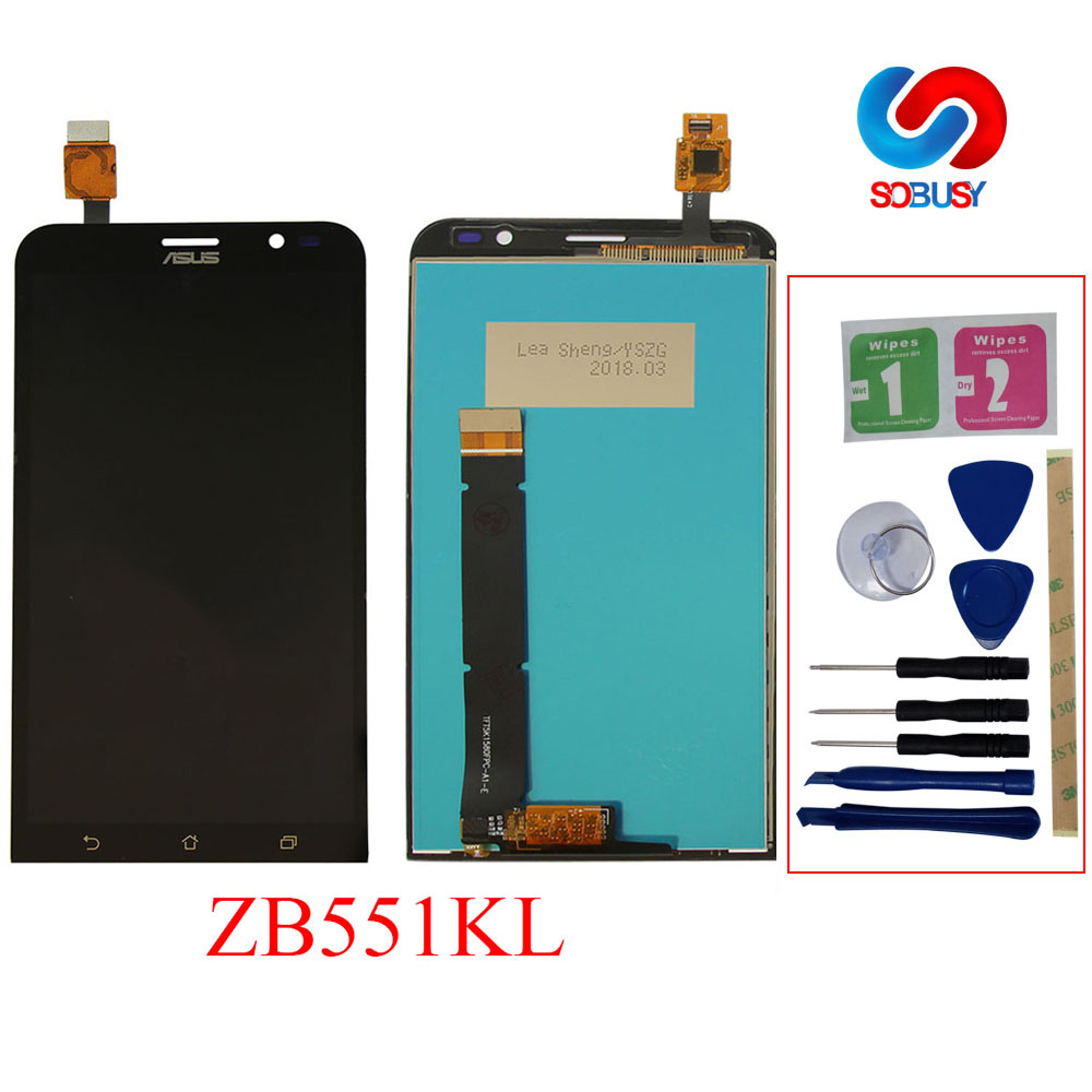 For <font><b>Asus</b></font> Zenfone GO TV ZB551KL <font><b>X013D</b></font> X013DB TD-LTE LCD Display Pantalla Touch Screen Digitizer Assembly replacement parts+frame image