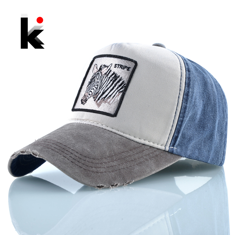 Hats Bone Baseball-Caps Embroidery Animal Women Snapback Cotton Fashion Casual Classic