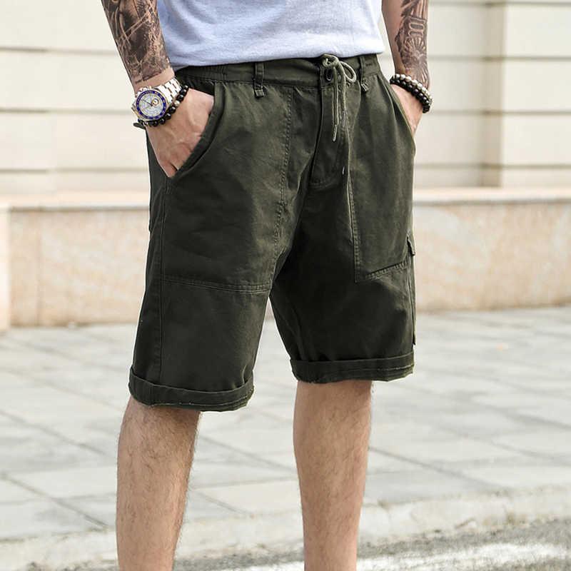 beb5d20f03 ... Men khaki cargo shorts Summer new fashion casual fashion short pants  men multi-pocket shorts ...