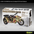 GREATWALL L3508  1/35 Scale  WWII German  Zundapp KS750 With Sidecar Plastic Model Building Kit
