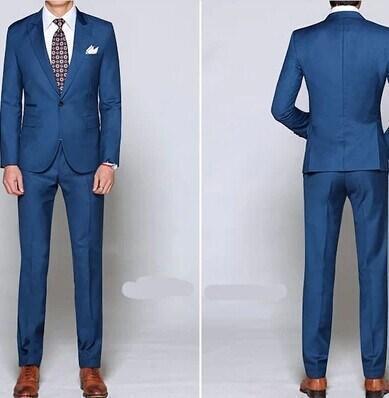 Blue Shiny Suit - Hardon Clothes