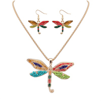 Fashion Jewelry Sets High Quality Animal Necklace Sets For Women Jewelry Gold/Silver Plated Dragonfly Unique Design Party Gifts